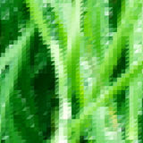 Fondo di tema dell'erba con la griglia triangolare Fotografia Stock