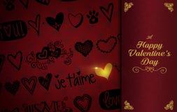 Fondo di tema di giorno del ` s del biglietto di S. Valentino della st Immagine Stock