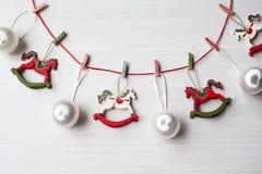 Fondo di tema di Natale Fotografie Stock