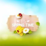 Fondo di tempo di primavera royalty illustrazione gratis