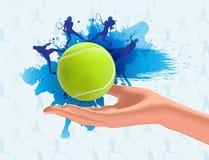 Fondo di tennis Fotografia Stock