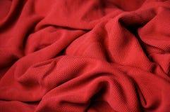 Fondo di tessuto poroso rosso Fotografie Stock