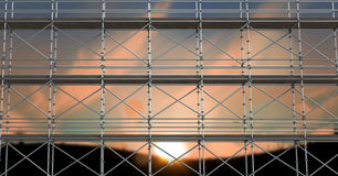 fondo di tramonto del briciolo dell'armatura 3d Fotografia Stock Libera da Diritti