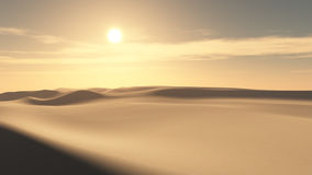 Fondo di tramonto del deserto illustrazione di stock