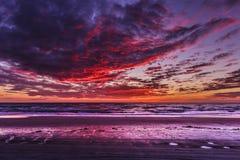 Fondo di tramonto del paesaggio di HDR Fotografia Stock