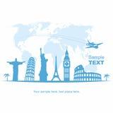 Fondo di turismo e di viaggio Fotografie Stock Libere da Diritti