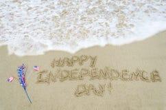 Fondo di U.S.A. di festa dell'indipendenza con la bandiera Fotografia Stock