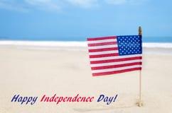 Fondo di U.S.A. di festa dell'indipendenza con la bandiera americana Fotografie Stock Libere da Diritti