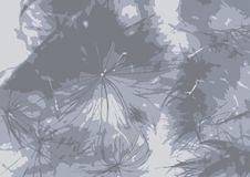 Fondo di un thistledown, grigio Vettore royalty illustrazione gratis