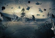 Fondo di una guerra Fotografie Stock Libere da Diritti