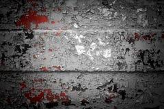 Fondo di uno strato del ferro con una vecchia pittura incrinata immagine stock libera da diritti