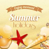 Fondo di vacanza di vacanza estiva Fotografie Stock