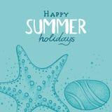 Fondo di vacanze estive royalty illustrazione gratis