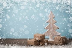 Fondo di vacanze invernali Fotografie Stock