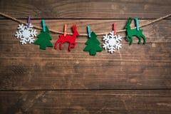 Fondo di vacanze invernali Fotografia Stock