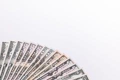 Fondo di valuta dei dollari degli Stati Uniti d'America, fondi U.S.A. Immagini Stock