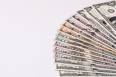 Fondo di valuta dei dollari degli Stati Uniti d'America, fondi U.S.A. Fotografia Stock