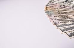 Fondo di valuta dei dollari degli Stati Uniti d'America, fondi U.S.A. Immagine Stock