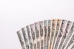 Fondo di valuta dei dollari degli Stati Uniti d'America, fondi U.S.A. Immagini Stock Libere da Diritti