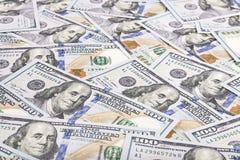 Fondo di valuta dei dollari degli Stati Uniti d'America, nuovo hundre Immagini Stock
