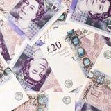 Fondo di valuta della libbra Fotografie Stock Libere da Diritti