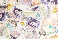 Fondo di valuta della libbra Fotografia Stock