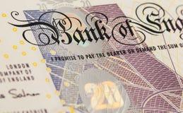Fondo di valuta della libbra - 20 libbre Fotografia Stock