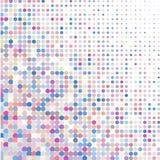 Fondo di vari punti colorati delle dimensioni differenti su bianco illustrazione vettoriale