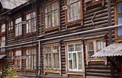 Fondo di vecchia casa di legno Fotografie Stock Libere da Diritti