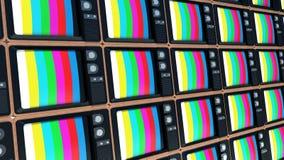 Fondo di vecchie TV Estremità della televisione royalty illustrazione gratis