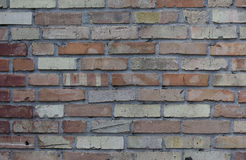 Fondo di vecchio muro di mattoni d'annata Fotografia Stock Libera da Diritti