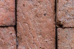 Fondo di vecchio muro di mattoni d'annata su un'isola di Bali, Indonesia Fotografia Stock