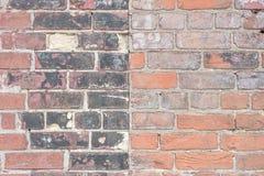 Fondo di vecchio muro di mattoni all'aperto d'annata fotografia stock libera da diritti