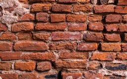 Fondo di vecchio muro di mattoni d'annata, modello della carta da parati immagini stock libere da diritti