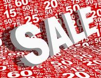 Fondo di vendita Fotografia Stock