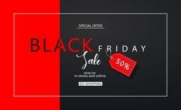 Fondo di vendita di Black Friday Disegno moderno Fondo universale di vettore per il manifesto, insegne, alette di filatoio, carta Royalty Illustrazione gratis