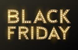 Fondo di vendita di Black Friday, oggetto di sconto Fotografia Stock