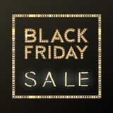 Fondo di vendita di Black Friday su bianco, oggetto di sconto Immagine Stock Libera da Diritti