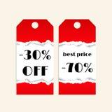 Fondo di vendita con struttura di carta lacerata rossa Royalty Illustrazione gratis