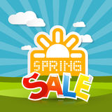 Fondo di vendita della primavera Immagine Stock Libera da Diritti