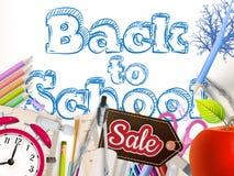 Fondo di vendita della scuola ENV 10 Immagine Stock