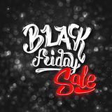 Fondo di vendita di Black Friday con bokeh Fotografia Stock