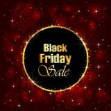 Fondo di vendita di Black Friday con i fiocchi di neve Immagine Stock