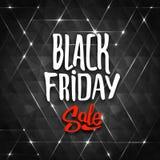 Fondo di vendita di Black Friday con i triangoli Fotografie Stock Libere da Diritti