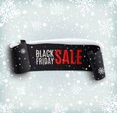 Fondo di vendita di Black Friday con realistico nero Fotografie Stock Libere da Diritti
