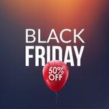 Fondo di vendita di Black Friday Pallone di sconto 50 per cento Contesto di offerta speciale Sconti del nuovo anno royalty illustrazione gratis