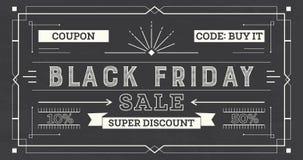 Fondo di vendita di Black Friday retro Fotografia Stock