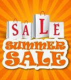 Fondo di vendita di estate Fotografia Stock