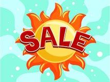 Fondo di vendita di estate Immagini Stock