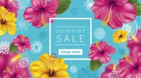 Fondo di vendita di estate illustrazione vettoriale